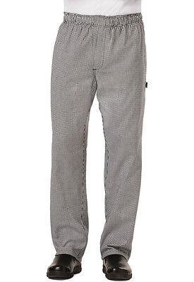 Dickies MensTraditional Baggy Chef Pant w/ zipper Fly Houndstooth DC14