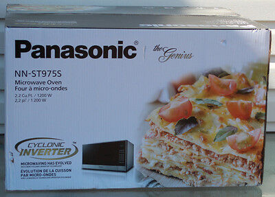 NEW Panasonic NN-ST975S Cyclonic Inverter Microwave 2.2 Cu. Ft. Stainless Steel