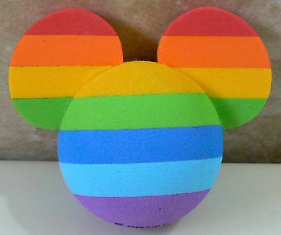 "DISNEY MICKEY MOUSE RAINBOW COLORS CAR ANTENNA AERIAL TOPPER BALL - NEW ""o"""