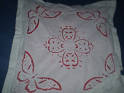Unique 2  VINTAGE HANDMADE PILLOWCASE CUTTING EMBROIDERY butterflies