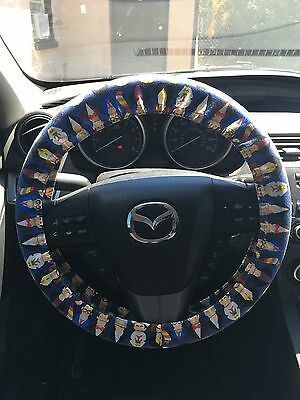 Dr Who All the Doctors (Up to 12) Steering Wheel Cover