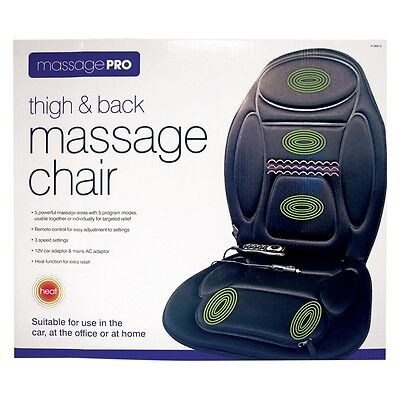 WINTER Thigh & Back Massage Chair For Car/Office/Home Remote Control Operated
