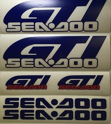 Seadoo GTI Decal Graphic Sticker Kit  You Choose Colour Custom Size available.