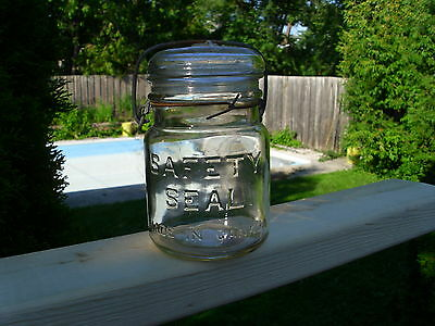 Vintage Safety Seal Made In Canada Pint Fruit Jar