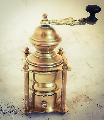 Antique Brass Coffee Grinder Mill Moulin Molinillo Cafe Kaffeemuehle Macinacaffe
