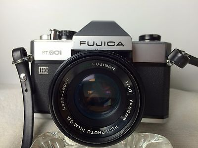 Nice Condition! Fujica ST801 with Fujinon EBC 50mm f1.8 Lens.