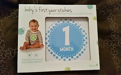 New Boy's Tiny Ideas Baby's First Year Stickers