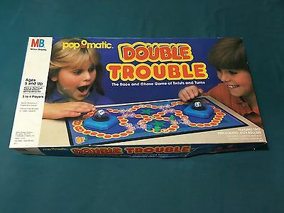 Vintage Milton Bradley Pop O Matic Double Trouble Board Game Complete
