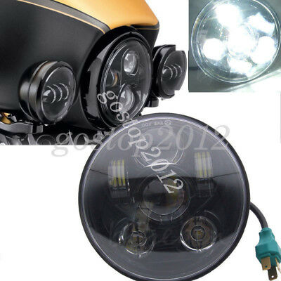"5.75"" 5-3/4'' Motorcycle Hi/Lo Daymaker Projector Cree LED Headlight For Harley"