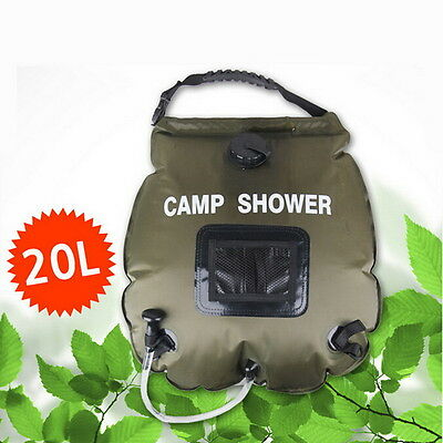 20L Camping Solar heated Shower Bag Outdoor Portable sun bathing water bag
