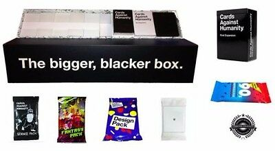 Cards Against Humanity Bigger Blacker Box AU Edition Main Game & Expansions New