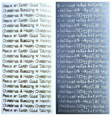 MINI CHRISTMAS SENTIMENTS Peel Off Stickers Happy Merry Blessing Peace on Earth