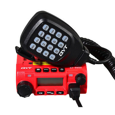 New QYT KT8900 Dual Band 136-174/400-480MHz 25W Mini Mobile Car Transceiver Red