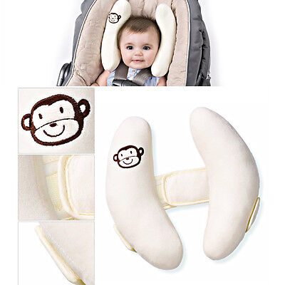 Adjustable Infant Baby Soft Pillow Head Neck Protection Support Fitted Car Seat