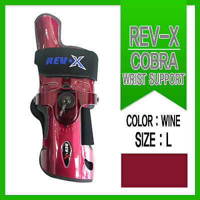 Rev-X Bowling Wrist Support / RH / Large / Wine/ Glove