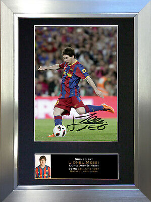 LIONEL MESSI No1 Barcelona Signed Autograph Mounted Photo Repro A4 Print 141