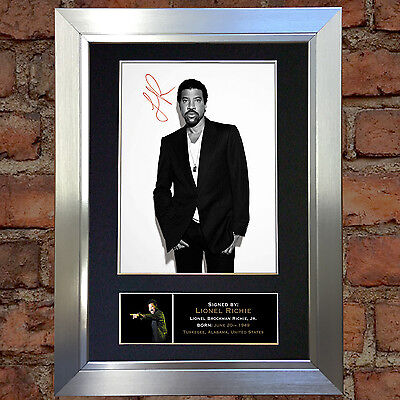 LIONEL RICHIE Signed Autograph Mounted Photo Repro A4 Print 259