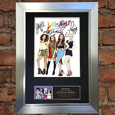 LITTLE MIX No2 Signed Autograph Mounted Photo Reproduction A4 Print 585