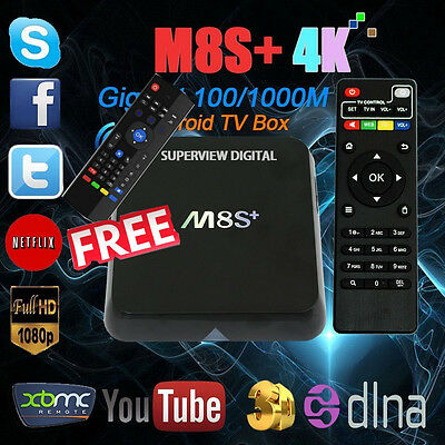 Android TV Box S812 M8S Plus Quad Core 2GB Ram 8GB with free Air Mouse 5G  5.1