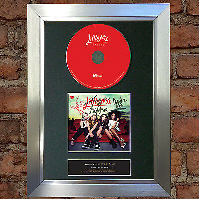 LITTLE MIX Salute Album Signed Autograph CD & Cover Mounted Print A4 9