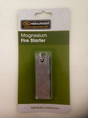 New HIGHLANDER MAGNESIUM FIRE STARTER Start a camp fire in outdoor conditions