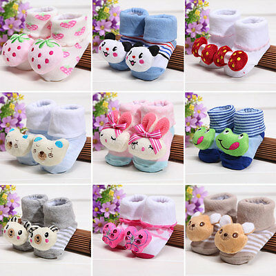 Baby Infant Toddler Boy Girl Anti-slip Socks Animal Soft Cotton Socks Booties
