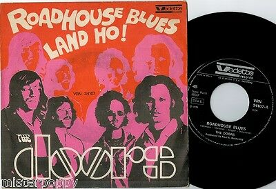 "THE DOORS Roadhouse Blues / Land Ho!  7"" 45rpm + PS 1970 ITALY MINT-"