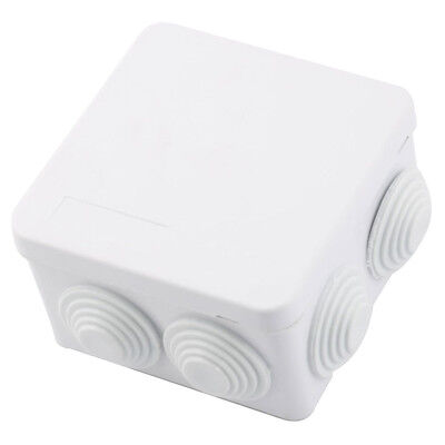 ABS IP55 Waterproof Square Junction Box Plain Press on Lid 85x85x50mm