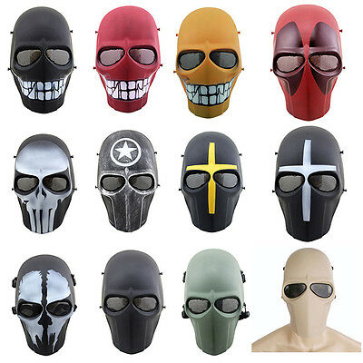 Airsoft Halloween Cosplay Full Face Protection Skull Mask CS Army Tactical Gear