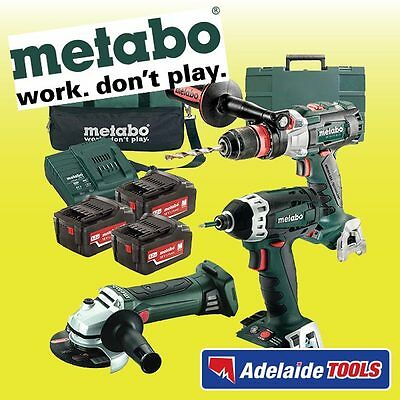 Metabo 18V 3 Piece CORDLESS Brushless 5.2Ah Li-Ion Combo Kit - SBLTXBLSSDW18