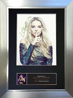 LOUISA JOHNSON Signed Autograph Mounted Photo Reproduction A4 Print no598