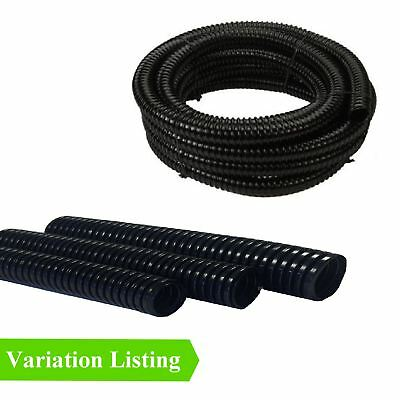 Black Flexible Hose for Garden Fish Ponds / Marine Filter Pump Corrugated Pipe