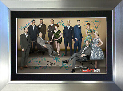 MAD MEN Autograph Mounted Repro Photo Signed By 11 Cast Members A4 Print no285