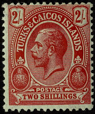 Turks & Caicos Islands - SG 138 - 1913-21 - 2s. red/blue-green - Mounted Mint