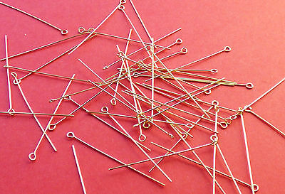 38mm length 24 gauge 0.60mm thickness 14K Gold Filled Eye Pins 24pcs