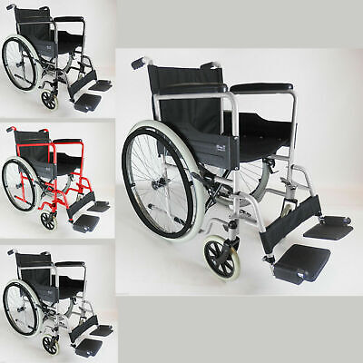 New Lightweight Self Propelled Folding Wheelchair Puncture Proof Tyres Footrests