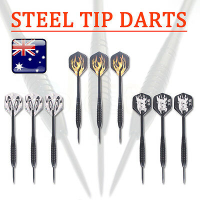 9 pcs (3 sets) Steel Needle Tip Dart Darts With Nice Flight Flights 22g Sports