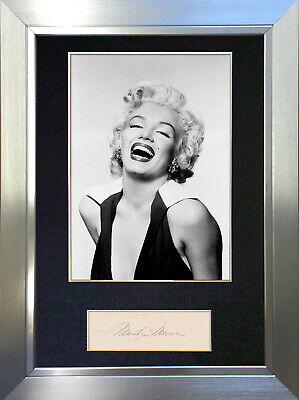 MARILYN MONROE Signed Autograph Mounted Photo Repro A4 Print no218