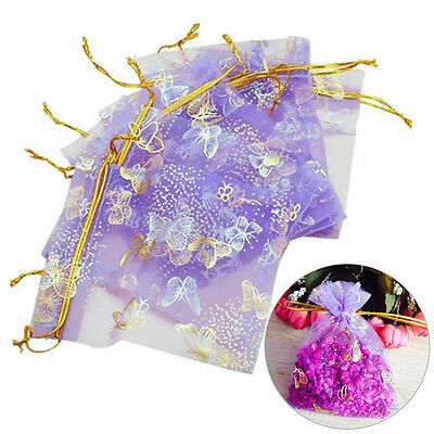25Pcs 10X12cm Organza Gift Jewellery Bags Drawstring Pouches Wedding Party Candy