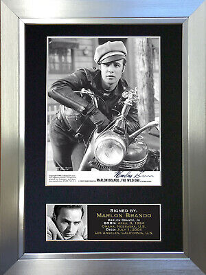 MARLON BRANDO Signed Autograph Mounted Reproduction Photo A4 Print 17