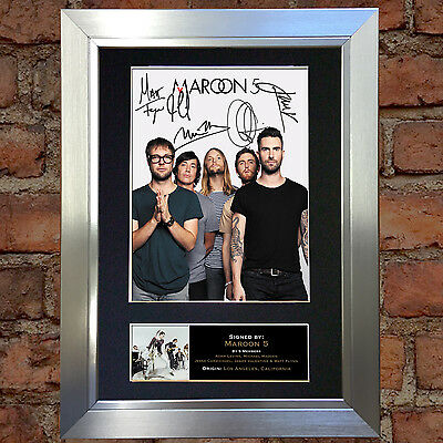 MAROON 5 Signed Autograph Mounted Photo Reproduction A4 Print 125