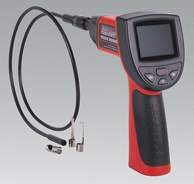 Sealey VS8196 8.5mm Diameter x 1000mm Video Probe Borescope with LCD Display