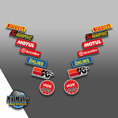 RACE SPONSOR STACK v5.1 MOTORCYCLE CAR DECALS STICKERS GRAPHICS **SINGLE PACK