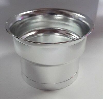 """76mm (3.00"""") Polished Silver Alloy Ram Pipe Air Inlet Intake Funnel Duct"""