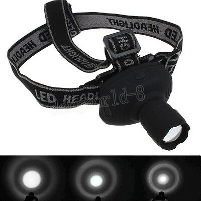 Q5 1000LM Lampade e torce LED Zoomable Headlamp AAA Head Torch Light Lamp