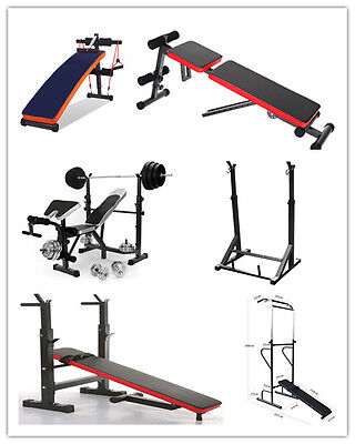 Home Gym Equipment Weight Bench Squat Rack Fitness Power Tower Dumbell Crunch UK