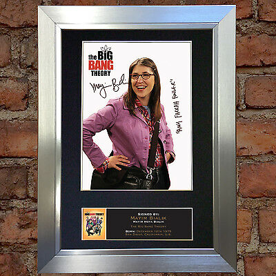 MAYIM BIALIK Big Bang Theory Autograph Mounted Reproduction Photo A4 Print 358