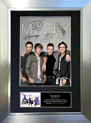 MCFLY Signed Autograph Mounted Photo Reproduction A4 Print 303