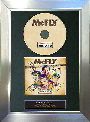 MCFLY Memory Lane Album Signed Autograph CD & Cover Mounted Print A4 18