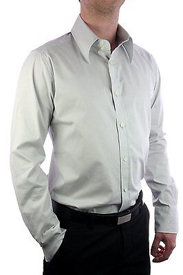 Dolce & Gabbana Camicia Gold Fit Uomo Slim business Shirt D&G Man Grey